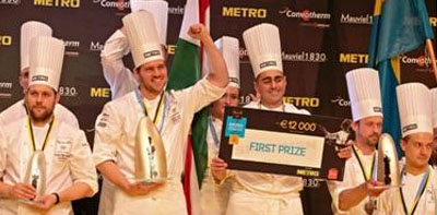 Tamás Széll is crowned Best European Chef
